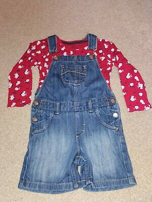 Girls 2-3 Years Dungarees And Top • 4£