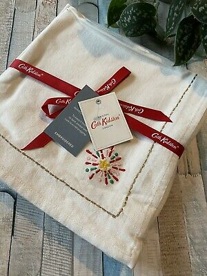 £24.99 • Buy Cath Kidston Christmas Cheer Embroidered Napkins Set Of 4 Brand New With Tags