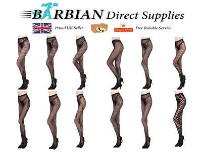 £3.99 • Buy Black Patterned Fishnet Tights Ladies Womens Pattern Lace Pantyhose Floral Gift
