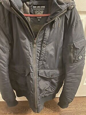 Duck And Cover Water Proof Mens Blue Jacket With Hood XL • 10£