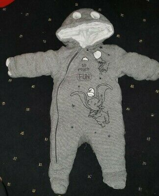 Disney Dumbo Snowsuit With Mitts 3-6 Months • 1.40£