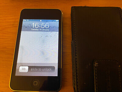 Apple IPod Touch 2nd Generation Black (16GB) Leather Case Bundle • 5.80£