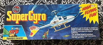 SuperGyro Vintage Airfix 1978 Helicopter Launcher Control Flight Game With Mat • 70£