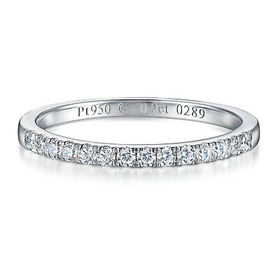 AU23.99 • Buy 925 Sterling Silver High Quality Carbon Diamond Wedding Engagement Ring Band C25