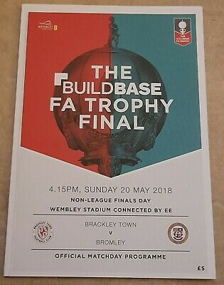 2018 FA Trophy/FA Vase Cup Final Programme  • 4.25£