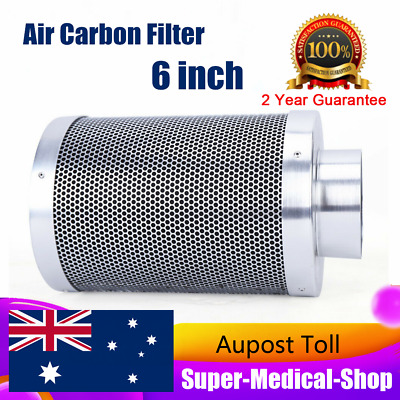 AU98.03 • Buy Hydroponics Silent 6  Inline Exhaust Fan Carbon Filter Ducting Ventilation Kit
