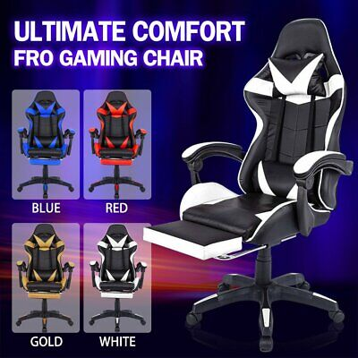 AU109.25 • Buy Gaming Chair Office Executive Computer Chairs Seating Footrest Racing Recliner