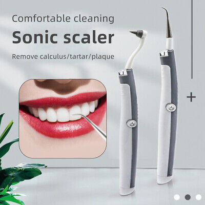 Electric Ultrasonic Tooth Cleaner Dental Stain Polisher Plaque Tartar Remover UK • 6.99£