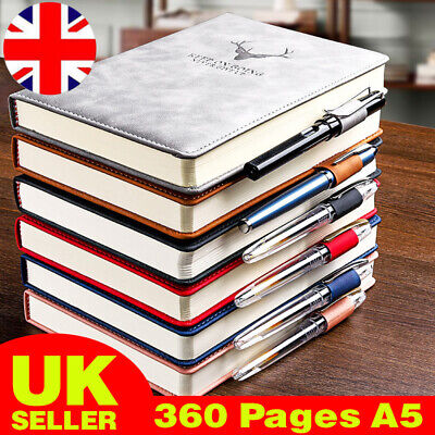 £7.98 • Buy 360 Pages A5 PU Leather Cover Traveler Journal Notebook Lined Paper Diary Gift C