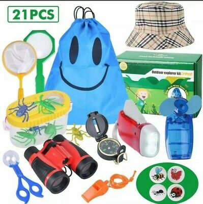 £14.99 • Buy Outdoor Explorer Kit Bug/insect Catcher/magnifer,compass,torch,fan,net,21 Pieces