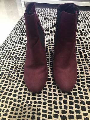 New Look Burgundy Ankle Boots Size 6 • 1.60£