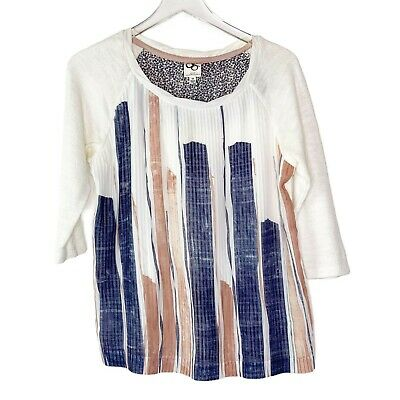 $ CDN35.65 • Buy Anthropologie One Sept. Pleated Front Pullover Top