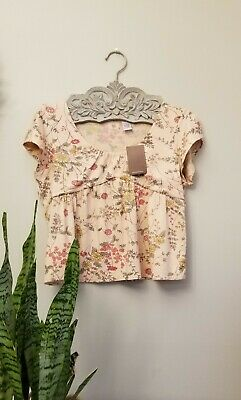 $ CDN57.30 • Buy Anthropologie Floral Knit Crop Top By Cross Stitch Heart RARE  NWT