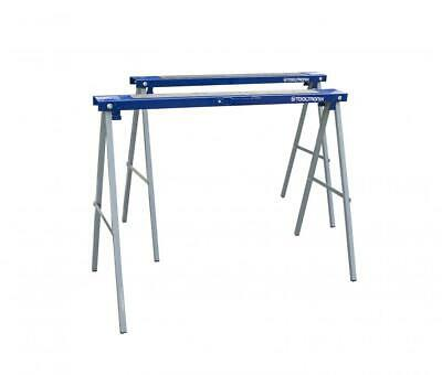 AU53.57 • Buy ToolTronix Folding Saw Horse Trestle Twin Metal Support Bars Stands Work Bench