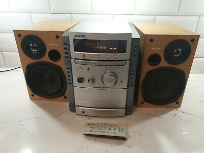 £95 • Buy Sony HCD-CP555 STEREO SYSTEM-CD Player/Radio/Double Cassette/2 Speakers-Superb