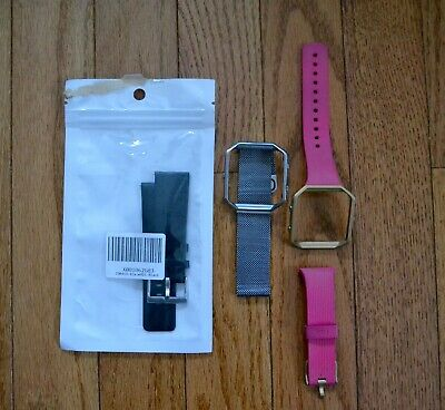 $ CDN2.54 • Buy Lot Of 3 Fitbit Blaze Size Small Bands -1 New Leather, 1 Magnetic, 1 Silicone