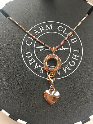 Thomas Sabo Charm, Chain & Carrier 18ct Rose Gold Plated Cost £147 • 1.04£