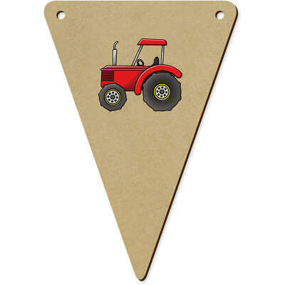 AU12.99 • Buy 5 X 140mm 'Red Tractor' Wooden Bunting Flags (BN00061579)
