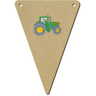 AU12.99 • Buy 5 X 140mm 'Green Tractor' Wooden Bunting Flags (BN00063651)