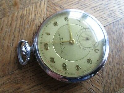 £47.08 • Buy Vintage Metal CYMA Pocket Watch Cal. 577. For Parts.