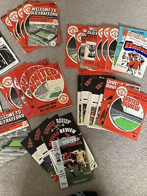 Manchester United Job Lot Programmes 90 Plus From 1970 • 30£