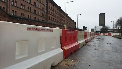 £4.20 • Buy Plastic Road Barriers Water Fill Barrier Hire 2 Metres Long