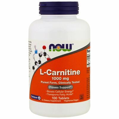 AU87.98 • Buy Now Foods, L-Carnitine, 1000 Mg, 100 Tablets