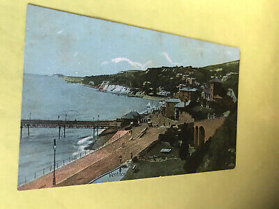 Seafront & Cliffs. Ventnor. Isle Of Wight.  Vintage Postcard  • 1.49£
