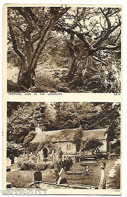 The Landslip & Bonchurch Near Ventnor, Isle Of Wight, England Postcard - 1930 • 2.45£