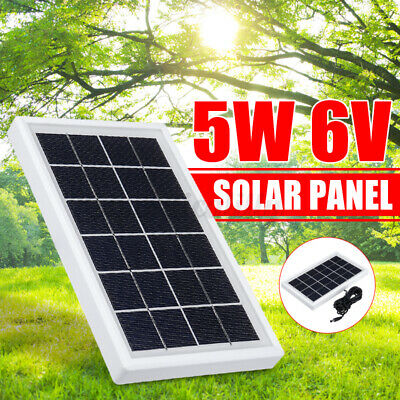AU21.54 • Buy Portable 5W DC 6V Solar Panel Polysilicon Battery Charging 3 Meter Wir ❤