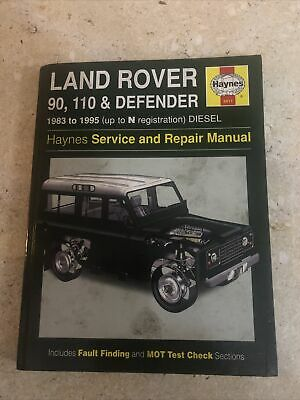 Land Rover 90/110 And Defender Service And Repair Manual Haynes 1982-1995 Diesel • 5£