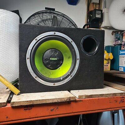 Fusion 12  Sub Woofer & Built In Amp Bass Bin Standard Vented Box • 21£