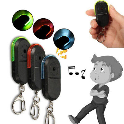 Smart Finder Whistle Sound LED Light Key Anti Lost Tracker Alarm Keyring Locator • 6.07£