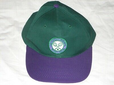 The Championships Wimbledon  Cap ~  Green & Purple ~ Adjustable.  • 16.50£