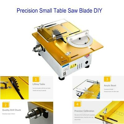 Precision Small Table Saw Blade DIY Cutting Woodworking Chainsaw 0-29mm Portable • 119.26£