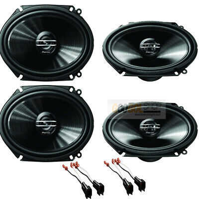 $109.99 • Buy 500W Max Pioneer 6 X 8  (5 X 7) Front/Rear Speakers Kit For 1999-2014 Ford F-150