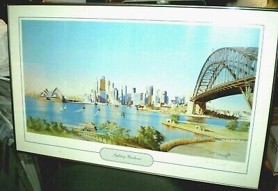 £71.14 • Buy Robert Wainwright Signed LE Print SYDNEY HARBOUR Matted And Framed 17.5 X 33.5