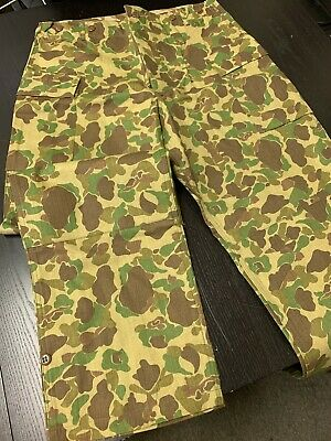 $69.99 • Buy WW2 USMC P42 HBT Reversible Camo Uniform Trousers - SIZE: 36  Waist - NEW Repro.