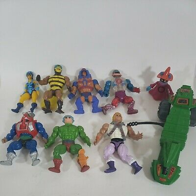 $40 • Buy Masters Of The Universe MOTU He-Man Vintage 8 Figure Lot And Vehicle SOLD AS IS