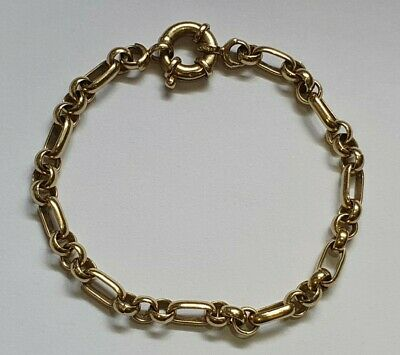 AU192.50 • Buy 9ct Gold Belcher Bracelet 12g 19cm