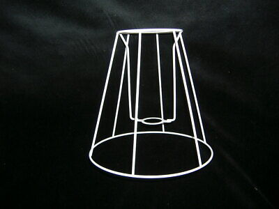 RETRO STYLE CONE LAMPSHADE FRAME  4  X 8  X 8   HEIGHT • 6.50£