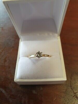 AU800 • Buy 14ct Gold Diamond Solitaire Ring Size T1/2 TDW .45cts