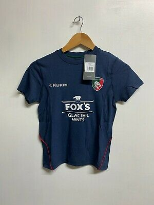 BNWT Boys 5//6 years Leicester Tigers Away Rugby Shirt Kukri 2018//19
