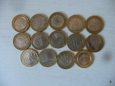 Two Pound Coin Job Lot - X  14   Used Circulated Collectible £2 Coins • 34£