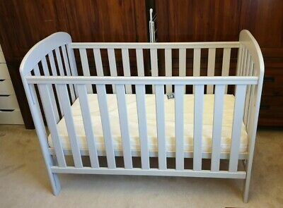 East Coast ANNA DROPSIDE COT -Grey Baby Nursery Furniture Baby Cot With Mattress • 40£