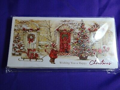 Christmas Cards  Bringing The Gifts Home  Pack Of Ten • 2.75£