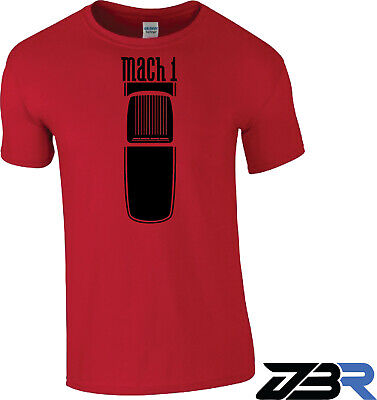 $19.99 • Buy Red 03-04 Style  Mach 1  Ford Mustang Shaker Hood Hotrod Racing Men's T-Shirt
