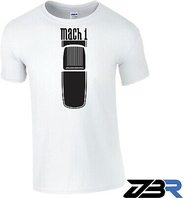 $19.99 • Buy White 03-04 Style  Mach 1  Ford Mustang Shaker Hood Hotrod Racing Men's T-Shirt