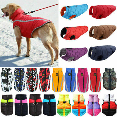 Pets Dog Clothes Rain Coat Padded Vest Jacket Clothing Comfy Apparels Costume • 4.59£