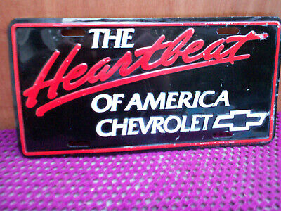 Vintage Chevrolet,  Heartbeat   License Plate Sign • 12£